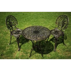 Meda alumínium kerti bútor szett, arany-fekete