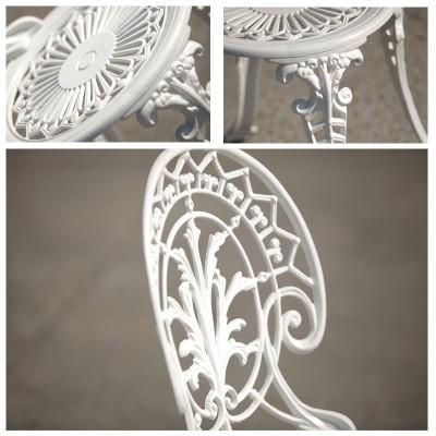 Meda alumínium kerti bútor szett, fehér