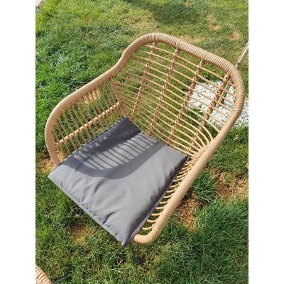 Kerti bútor szett, rattan hatású acél vázas