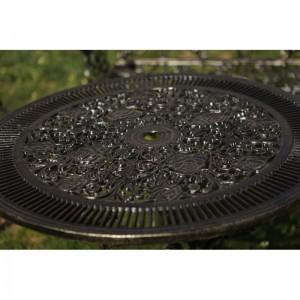 Karina alumínium kerti asztal, arany-fekete