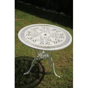 Karina alumínium kerti asztal, fehér