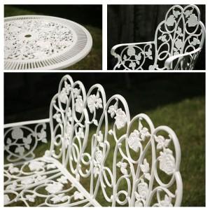Karina aluminium kerti bútor garnitúra, fehér