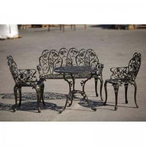 Karina aluminium kerti bútor garnitúra, arany-fekete