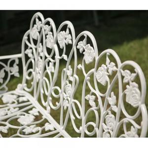 Karina alumínium kerti pad, fehér