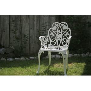 Karina alumínium kerti szék, fehér