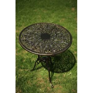 Meda alumínium kültéri asztal, arany-fekete