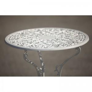 Meda alumínium kültéri asztal, fehér