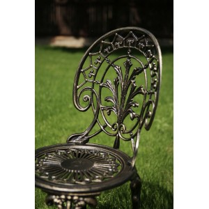 Meda alumínium kültéri szék, arany-fekete